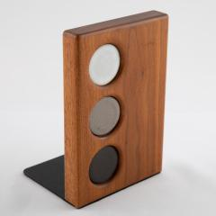 Gordon Jane Martz 1960s ceramic and walnut bookends by Gordon and Jane Martz for Marshall Studios - 1075589