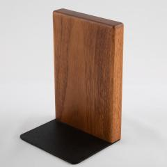Gordon Jane Martz 1960s ceramic and walnut bookends by Gordon and Jane Martz for Marshall Studios - 1075591