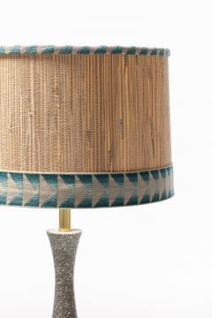 Gordon Jane Martz Gordon Jane Martz Blue Glazed Ceramic Walnut Floor Lamp circa 1955 - 2134764