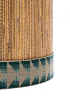 Gordon Jane Martz Gordon Jane Martz Blue Glazed Ceramic Walnut Floor Lamp circa 1955 - 2134765