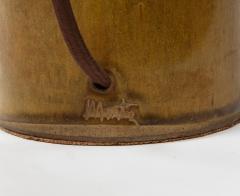 Gordon Jane Martz Gordon Jane Martz Ocher Glazed Ceramic Mid Century Table Lamp Signed USA - 1050998