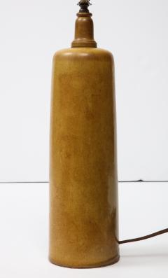 Gordon Jane Martz Gordon Jane Martz Ocher Glazed Ceramic Mid Century Table Lamp Signed USA - 1050999