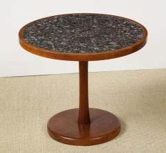 Gordon Jane Martz Round side table with exceptional ceramic top - 1148048