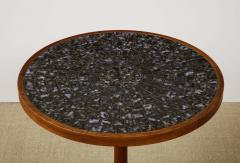 Gordon Jane Martz Round side table with exceptional ceramic top - 1148049