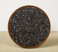 Gordon Jane Martz Round side table with exceptional ceramic top - 1148051