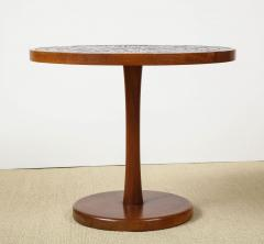 Gordon Jane Martz Round side table with exceptional ceramic top - 1148059