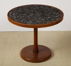 Gordon Jane Martz Round side table with exceptional ceramic top - 1148067