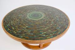 Gordon Martz Ceramic Tile Top Coffee Table by Gordon and Jane Martz - 947891