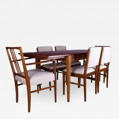 Gordon Russell GORDON RUSSELL TULIP WOOD DINING TABLE AND SIX CHAIRS - 1923685