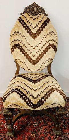 Gothic Renaissance Style Oak Side Chair a Pair - 1639930