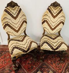 Gothic Renaissance Style Oak Side Chair a Pair - 1639931