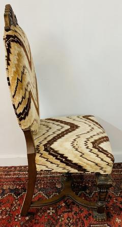 Gothic Renaissance Style Oak Side Chair a Pair - 1639935