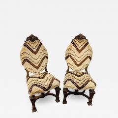 Gothic Renaissance Style Oak Side Chair a Pair - 1705466
