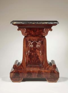 Gothic Revival Marble Top Mahogany Mixing Table and Cupboard - 699429