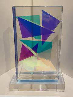 Grace Absi American Modern Monolithic Hand Colored Lucite Sculpture Grace Absi - 1661889