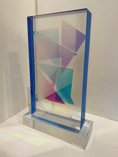 Grace Absi American Modern Monolithic Hand Colored Lucite Sculpture Grace Absi - 1661892