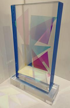 Grace Absi American Modern Monolithic Hand Colored Lucite Sculpture Grace Absi - 1661894