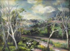 Grace Gemberling Keast Oil on Canvas Landscape by Grace Gemberling Keast - 83001