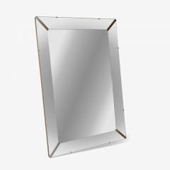 Grand Beveled Mirror With Nickel Accents - 384471