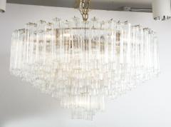 Grand Large Murano Glass 1970s High Style Chandelier - 2065806