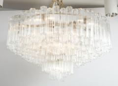 Grand Large Murano Glass 1970s High Style Chandelier - 2065810