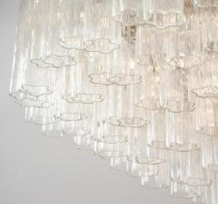 Grand Large Murano Glass 1970s High Style Chandelier - 2065812
