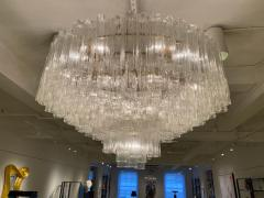 Grand Large Murano Glass 1970s High Style Chandelier - 2065826