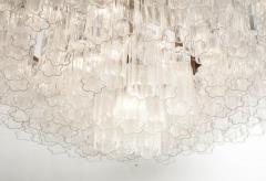 Grand Large Murano Glass 1970s High Style Chandelier - 2065846