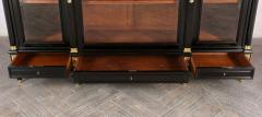 Grand Louis XVI Style Ebonized Bookcase - 1313438