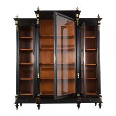 Grand Louis XVI Style Ebonized Bookcase - 1313441
