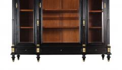 Grand Louis XVI Style Ebonized Bookcase - 1313442