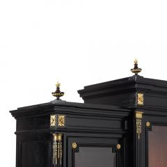 Grand Louis XVI Style Ebonized Bookcase - 1313443