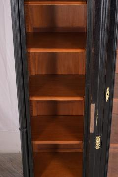 Grand Louis XVI Style Ebonized Bookcase - 1313444