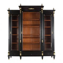 Grand Louis XVI Style Ebonized Bookcase - 1313445