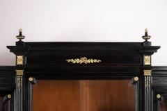 Grand Louis XVI Style Ebonized Bookcase - 1313447