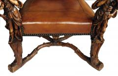 Grand Pair of Venetian Baroque Style Arm Chairs Manner of Andrea Brustonloni - 1929847