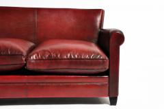 Grand Parisian Style Red Leather Sofa - 903839