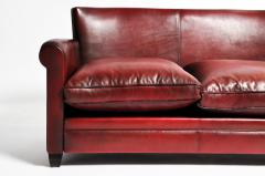 Grand Parisian Style Red Leather Sofa - 903842
