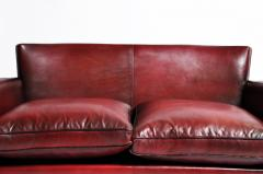 Grand Parisian Style Red Leather Sofa - 903843