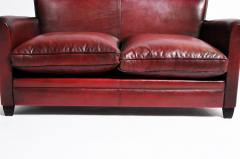 Grand Parisian Style Red Leather Sofa - 903844