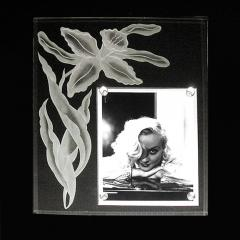 Grand Scale 1940 s Etched and Beveled Glass Frame - 189278