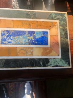 Grand Tour Inlaid Marble Specimen Paperweight Early 20th Century - 1307754