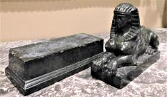 Grand Tour Marble Female Sphinx with Egyptian Headdress - 753799