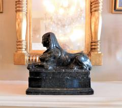 Grand Tour Marble Female Sphinx with Egyptian Headdress - 753801
