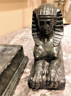 Grand Tour Marble Female Sphinx with Egyptian Headdress - 753803