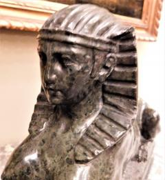 Grand Tour Marble Female Sphinx with Egyptian Headdress - 753804