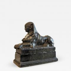 Grand Tour Marble Female Sphinx with Egyptian Headdress - 754003