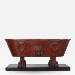 Grand Tour Rosso Antico Marble Model of a Roman Labrum or Bath - 1558928