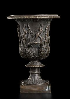 Grand Tour Sculptures Pair Bronze Medici Vases After The Antique - 1951201