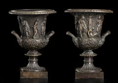 Grand Tour Sculptures Pair Bronze Medici Vases After The Antique - 1951205